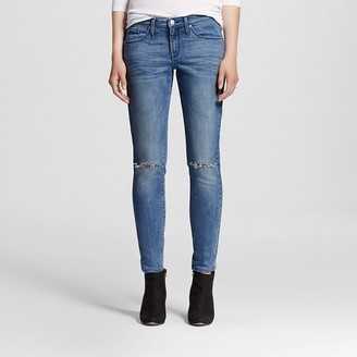 Mossimo Women's Mid-rise Skinny Jeans Medium Wash - Mossimo $29.99 thestylecure.com