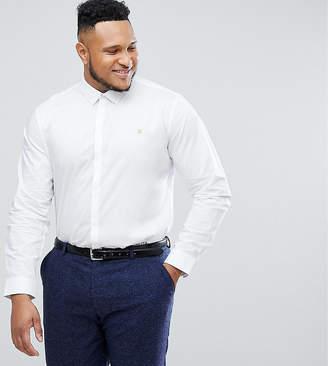 Farah Handford slim fit smart poplin shirt in white