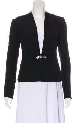 Ralph Lauren Black Label Collarless Collar Blazer