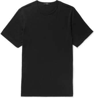 Theory Precise Slim-Fit Mercerised Cotton-Jersey T-Shirt - Men - Black