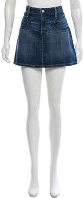 Paper Denim & Cloth Denim Mini Skirt