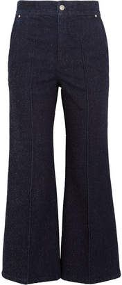 Isabel Marant Parsley Cropped Flared Jeans - Dark denim