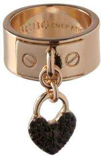 BCBGeneration Keys to My Heart Crystal Heart Charm Ring