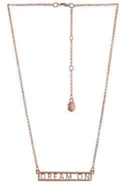 BCBGeneration Affirmation Crystal Dream On Plate Pendant Necklace
