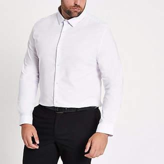 River Island Big and Tall white long sleeve shirt
