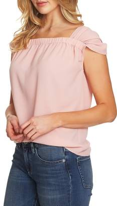 CeCe Gathered Cap Sleeve Top