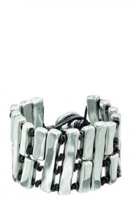 Uno de 50 Leather Silver Bracelet