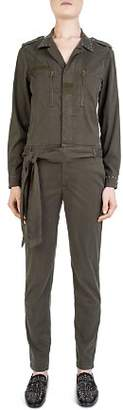 The Kooples Tanya Military-Inspired Belted Jumpsuit