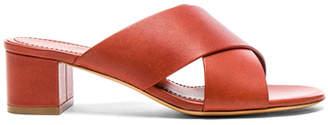 Mansur Gavriel Leather 40mm X Strap Heels