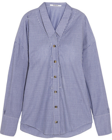 Chalayan Chalayan - Oversized Striped Cotton-poplin Shirt - Blue