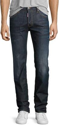 DSQUARED2 Dean Straight-Leg Jeans, Dark Movement (Navy)