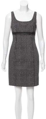 Versace Abstract Sheer-Trimmed Dress