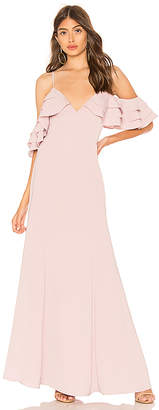 About Us Bell Ruffle Maxi Dress