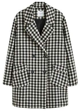 Violeta BY MANGO Gingham check coat