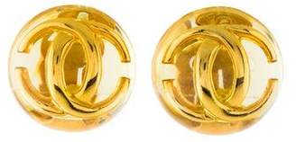 Chanel CC Resin Earrings