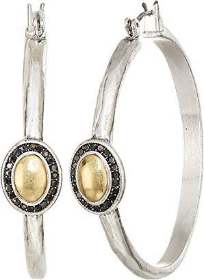 Lucky Brand Women's Pave Gem Hoop Earrings