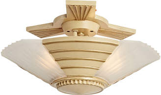 Rejuvenation Compact 3-Light Slipper Shade Fixture by Lightmaster