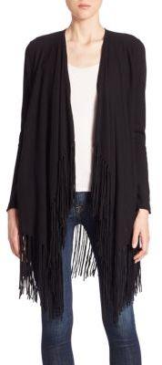 Ella Moss Bianca Fringed Wool & Cashmere Blend Cardigan $235 thestylecure.com