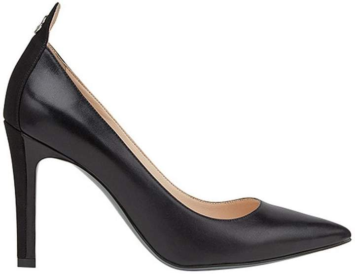 Fendi pointed ankle logo pumps
