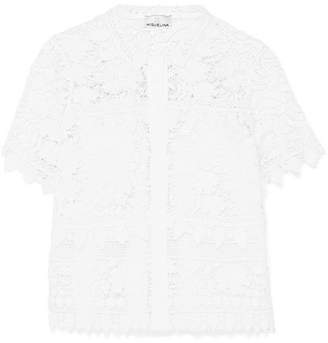 Miguelina Alanis Guipure Lace And Linen Shirt - White