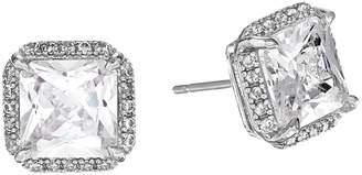 Kate Spade Save The Date Pave Princess Cut Stud Earrings