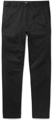 A.P.C. Terry Slim-Fit Cotton-Gabardine Trousers