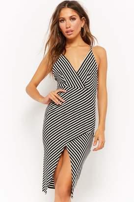 Black And White Stripe Midi Dress Shopstyle Canada