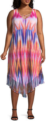 ONE WORLD APPAREL One World Apparel Sleeveless Party Dress-Plus
