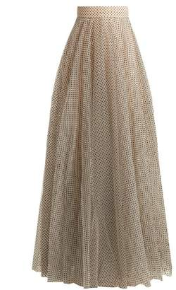 Zimmermann Tempest Ballet Polka Dot Tulle Skirt - Womens - Black Cream