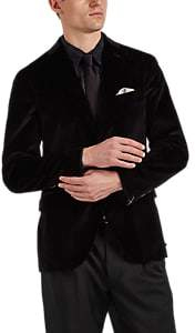 "Boglioli Men's ""K Jacket"" Cotton-Velvet Two-Button Sportcoat - Black"