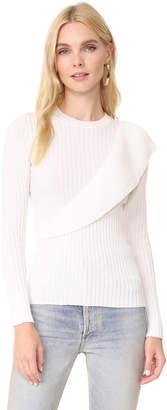 Fuzzi Ruffle Sweater $355 thestylecure.com