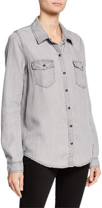 Sanctuary Snap-Front Long-Sleeve Work Shirt
