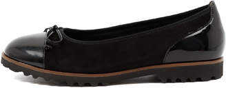 Gabor Clover Schwarz Shoes Womens Shoes Casual Flat Shoes