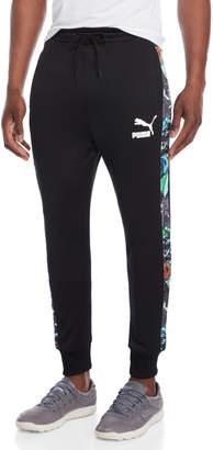 Puma Black T7 Graffiti Print Track Pants