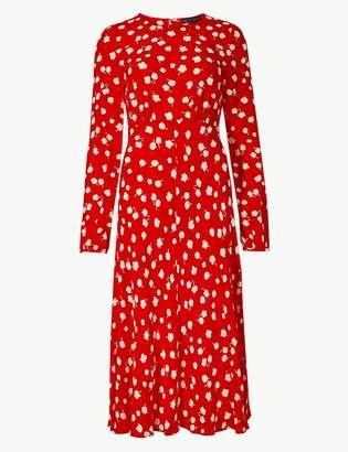 M&S Collection Floral Print Midi Dress