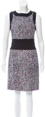 Oscar de la Renta Cutout Tweed Dress