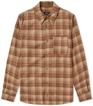 A.P.C. Attic Check Wool Overshirt
