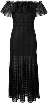 Alexander McQueen ruffle flared dress