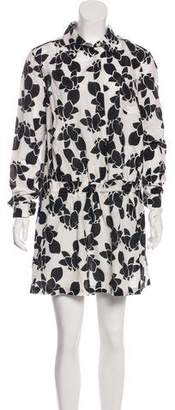 Thakoon Floral Print Long Sleeve Mini Dress