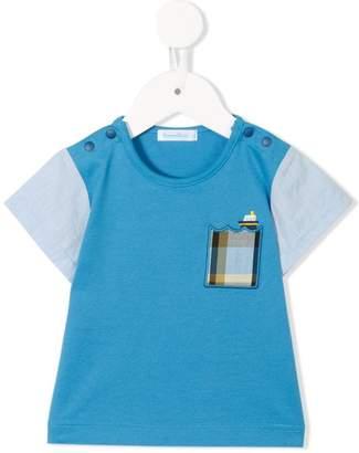 Familiar contrast sleeve T-shirt