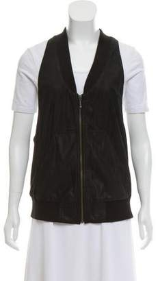 MM6 MAISON MARGIELA Leather Zip-Up Vest