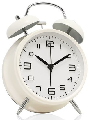 Betus [Non-Ticking] Twin Bell Load Alarm Clock with Nightlight Function for Home & Office