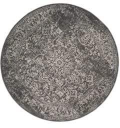 Safavieh Evoke Frieze Round Gray Rug