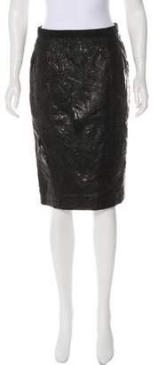 Kaufman Franco KAUFMANFRANCO Leather Pencil Skirt