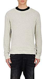 R 13 Men's Distressed Sweatshirt - Gray