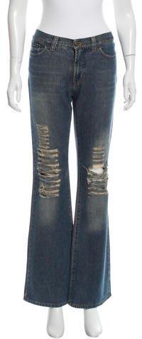 Dolce & GabbanaD&G Distressed Wide-Leg Jeans