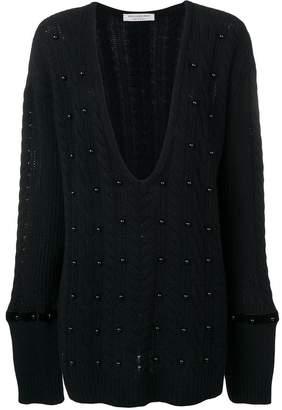 Philosophy di Lorenzo Serafini embellished cable knit jumper