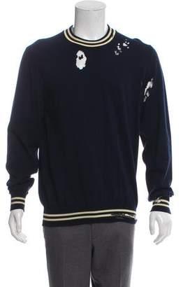 Maison Margiela Distressed Rib Knit Sweatshirt