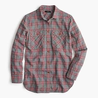 J.Crew Boyfriend shirt in pewter plaid