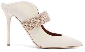 Malone Souliers Mara Leather Mules - Womens - White